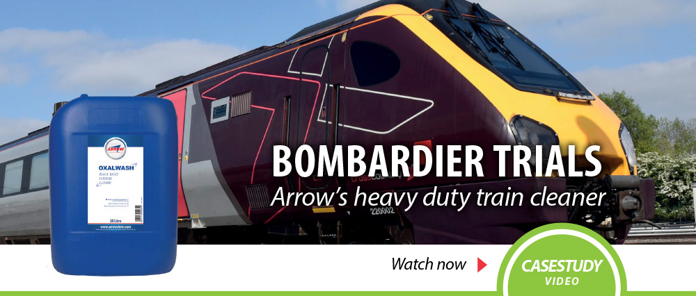 Oxalwash exterior train cleaner Bombardier