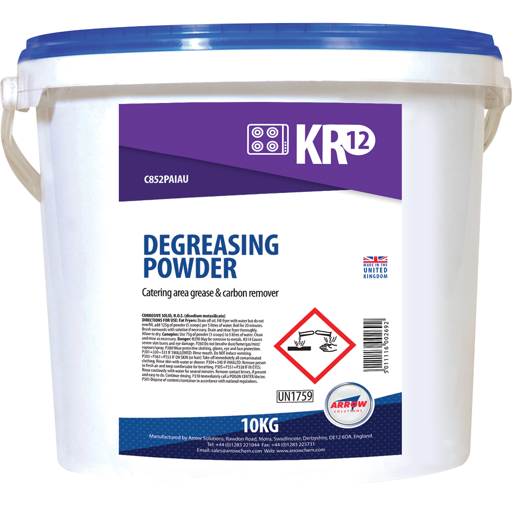New KR12 Degreasing Powder launched by Arrow Solutions